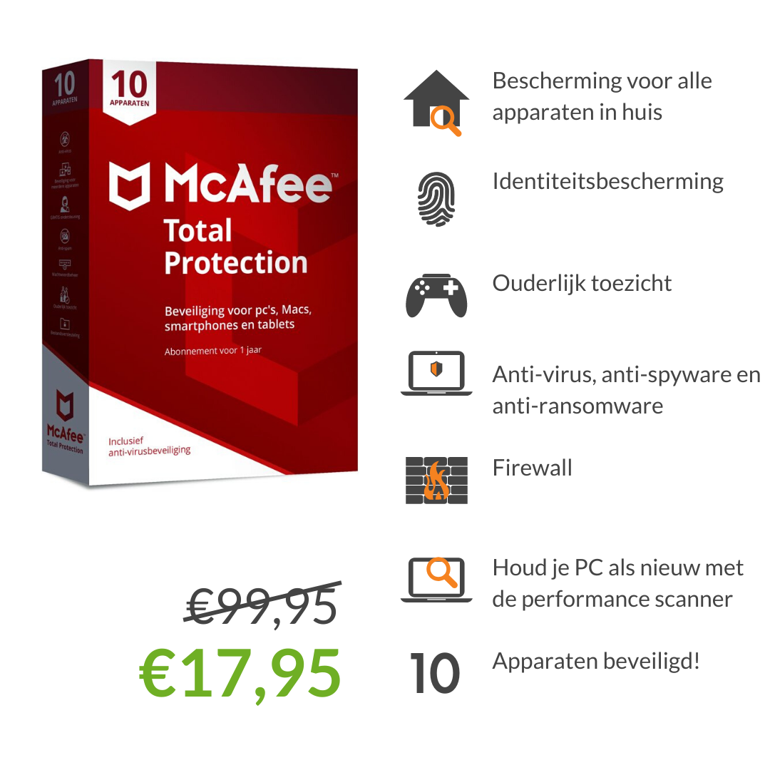McAfee Total Protection Safe Family voor 10 apparaten